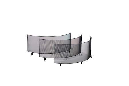 Soporte con tres pantallas para caldero colgante Braspanna 70 cm