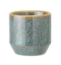 Lysholder Stoneware Green Ø8xH4 cm