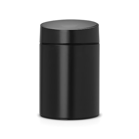 Slide Bin mustalla muovikannella, muovinen sisäämpäri (voidaan kiinnittää seinään) 5 L Pure Black