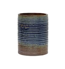 Blomsterpotte Keramikk Blå og Brun 20 cm