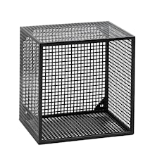 Wire Wandregal quadratisch Schwarz