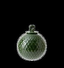 Rhombe Dekorationskugle Ø7 cm Copenhagen Green Porcelæn