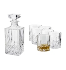 Vide Whiskey Decanter with 6 glasses