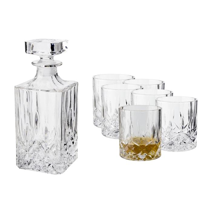 Vide Whiskykaraff med 6 st glas
