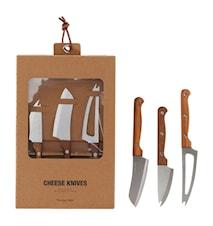 Osteknive, Sæt med 3, Rustfri stål