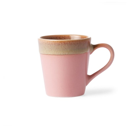 70's Keramikk Espressokopp Rosa