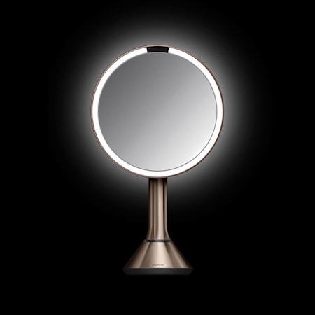 Sensor Spegel med Justerbar ljusstyrka Roséguld