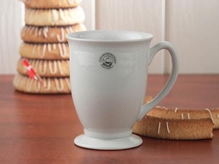 Kaffekrus på fot 33 cl Hvit