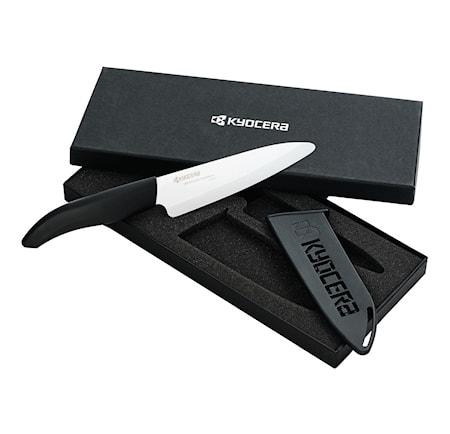 Keramisk kniv 14 cm med bladbeskyttelse inkl. Gaveeske