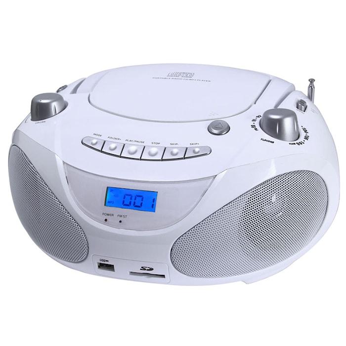 Boombox CD/Radio/MP3/USB White