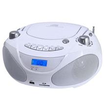 Champion Boombox CD/Radio/MP3/USB White