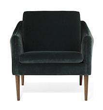 Mr. Olsen Lounge Chair Dark Petrol Sammet Smoked Ek