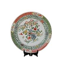 Fat Gröna växter& fåglar Ming dynastin