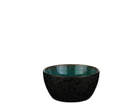 Skål Ø12 cm sort/grønn Bitz