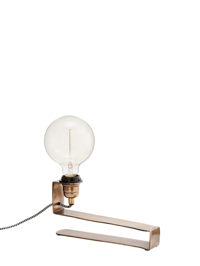 Bordlampe 27x5x14 cm - Messing