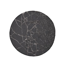 Marmor Matta Charcoal Ø170 cm