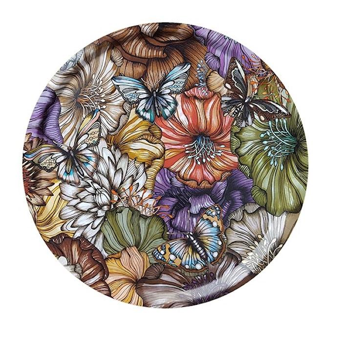 Nadja Wedin Design Bricka 38 cm Flower Power Brown