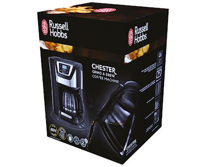 Chester Grind&Brew, Kaffebrygger med Kværn og Timer, 12 kopper