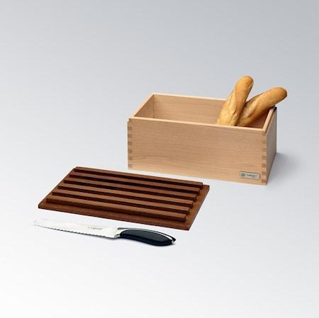 CRISPY Brødboks i Ask med Skjærefjøl 40cm