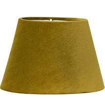 Lampeskærm Oval Fløjl Sennepsgul