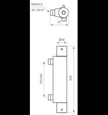 EVM168-160 Brusetermostat Messing