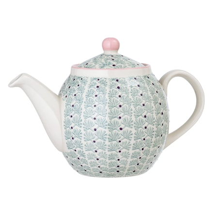 Maya Teapot Green Stoneware