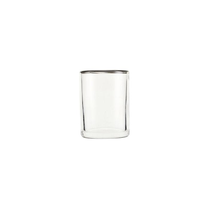 Glas, Grå, h: 9 cm