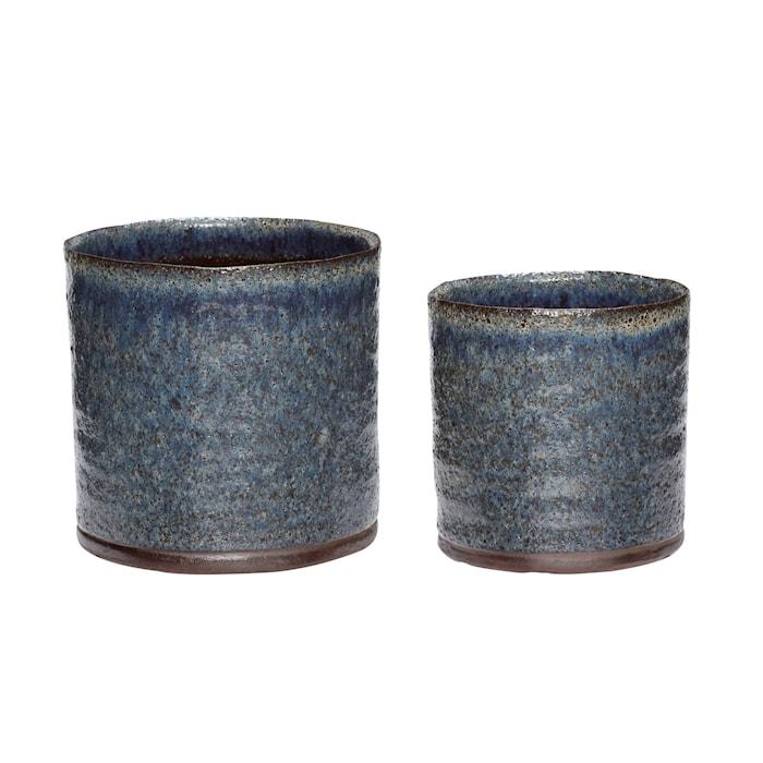 Kruka Keramik Lila/Grön 2 st