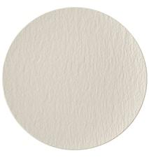 Manufacture Rock Blanc Assiette plate sans bord