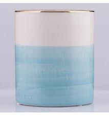 Krukke Blå/Hvid 13 cm