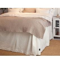 Herringbone Sängkappa Vit 90x210x53cm