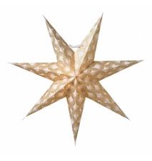 Silvia Julstjärna Vit/Guld 60 cm