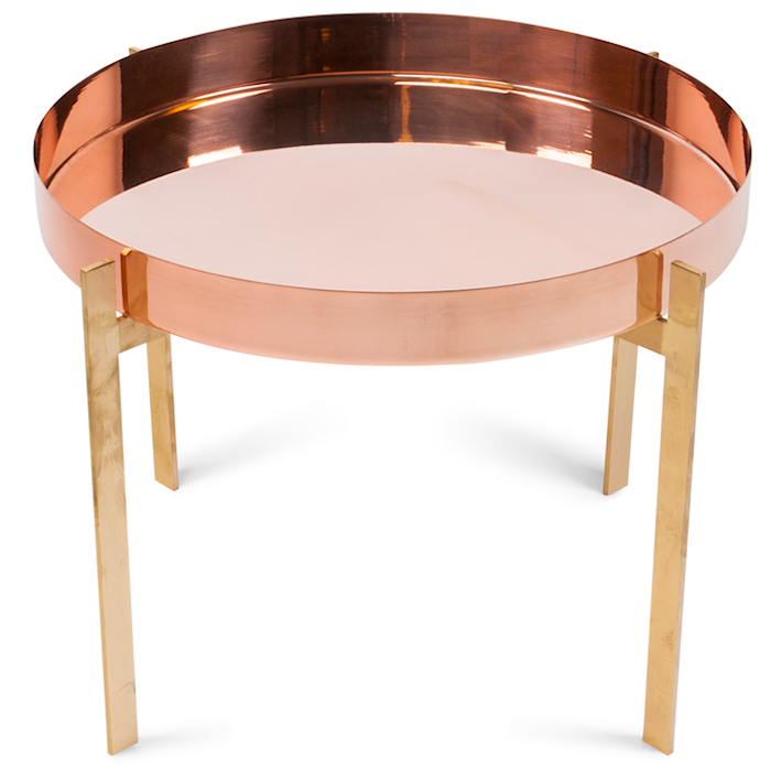Single deck sofabord - Messing/kobber