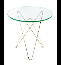 Tall mini o-table glass