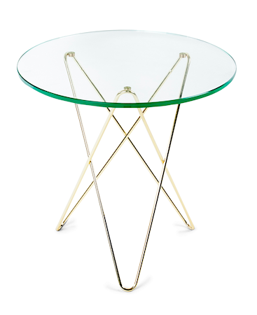 OX DENMARQ Tall mini o-table glass ? Green/brass