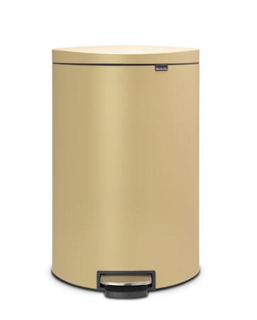 Soptunna med Pedal & Plasterinnerhink Guld 40 L