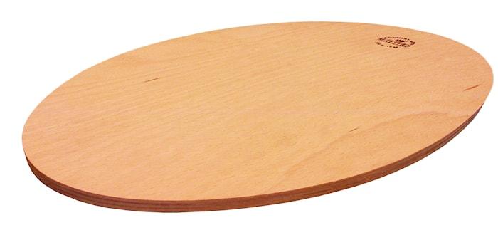 Ovalt underlag for fajitapanne
