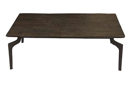 Soffbord Trä med Metallben 120x70cm