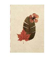 Flora Notebook Beige/Lila Large