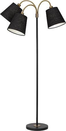 Golvlampa Cia 3-arm med Lampskärm Cia