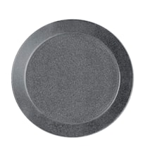 Teema lautanen 17 cm meleerattu harmaa