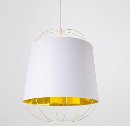 Lanterna Medium Taklampe - Hvit/gull