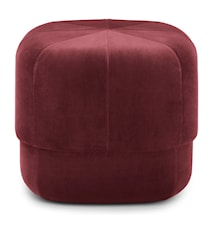 Circus pouf sittpuff velour small - Dark red