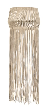 Vägglampa Fransar Läder Brun