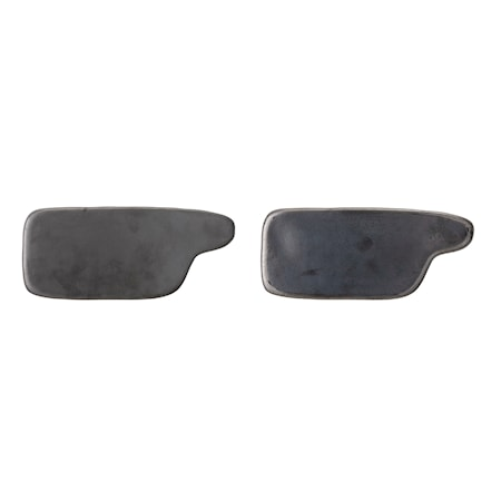 Leah Plate, Black, Stoneware