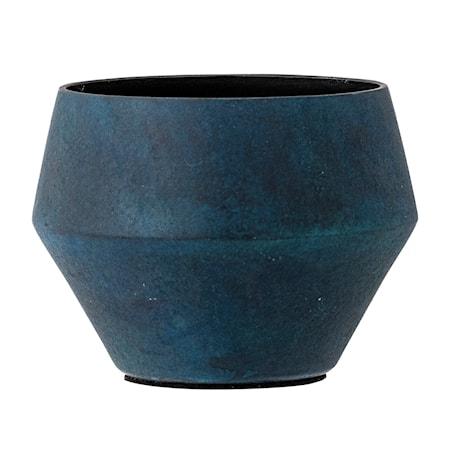 Värmeljushållare Blå Aluminium 8x6cm
