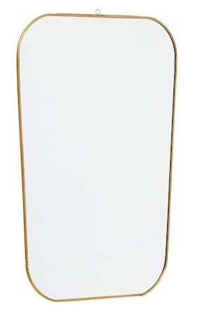 Spegel Square 51x35 cm Guld