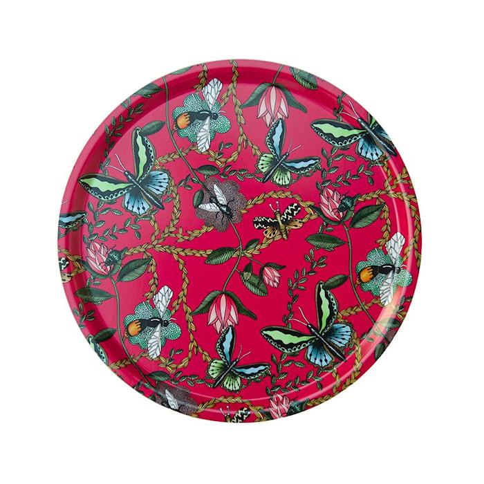 Vassoio Nadja Wedin Design 46 cm Bugs & Butterflies ciliegia