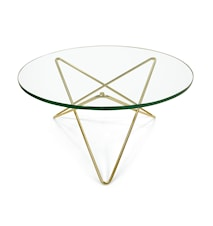 O-table glass soffbord