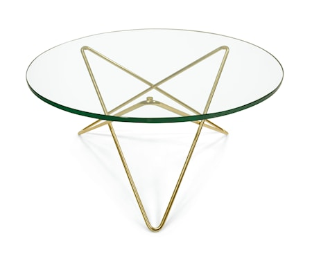 OX DENMARQ O-table glass soffbord ? Green/brass